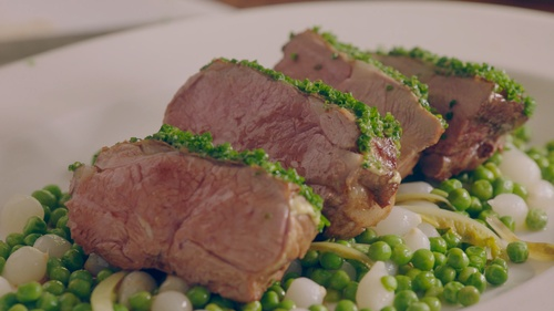 Rump of Lamb à la Dijonnaise